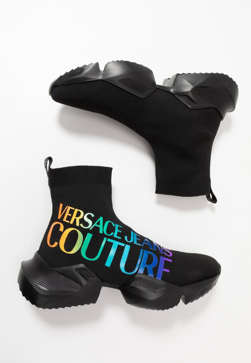 Versace Jeans Couture - Sneakersy wysokie - black/multicolor