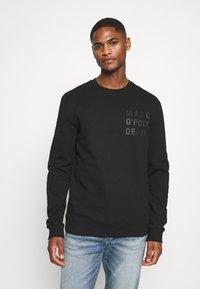 Marc O'Polo DENIM - LOGO PRINT - Sweatshirt - black - 0