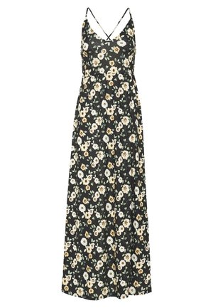 Maxi dress - black/yellow