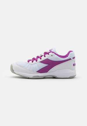 S. CHALLENGE 3 W CARPET - Carpet court tennis shoes - white/hyacinth violet