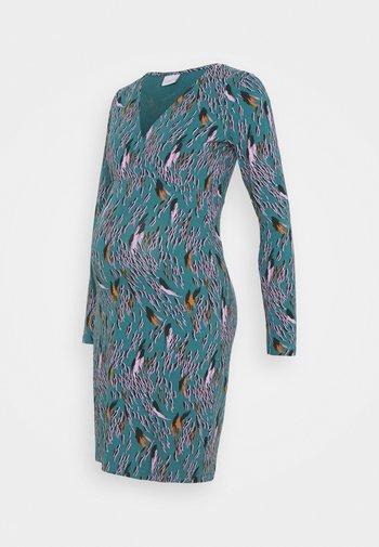 NURSING DRESS - Žerzejové šaty - mallard blue