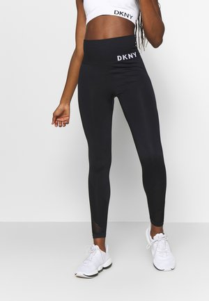 HIGH WAISTED SEAMLESS - Leggings - black