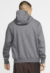 Nike Sportswear - CLUB HOODIE - Hoodie - charcoal heather/anthracite/white - 2
