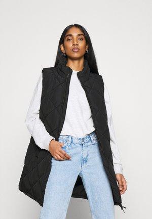 NMFALCON LONG VEST - Waistcoat - black