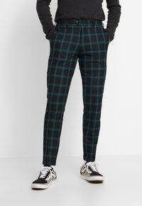 Jack & Jones PREMIUM - JPRSID TROUSER CHECK - Trousers - dark green - 0