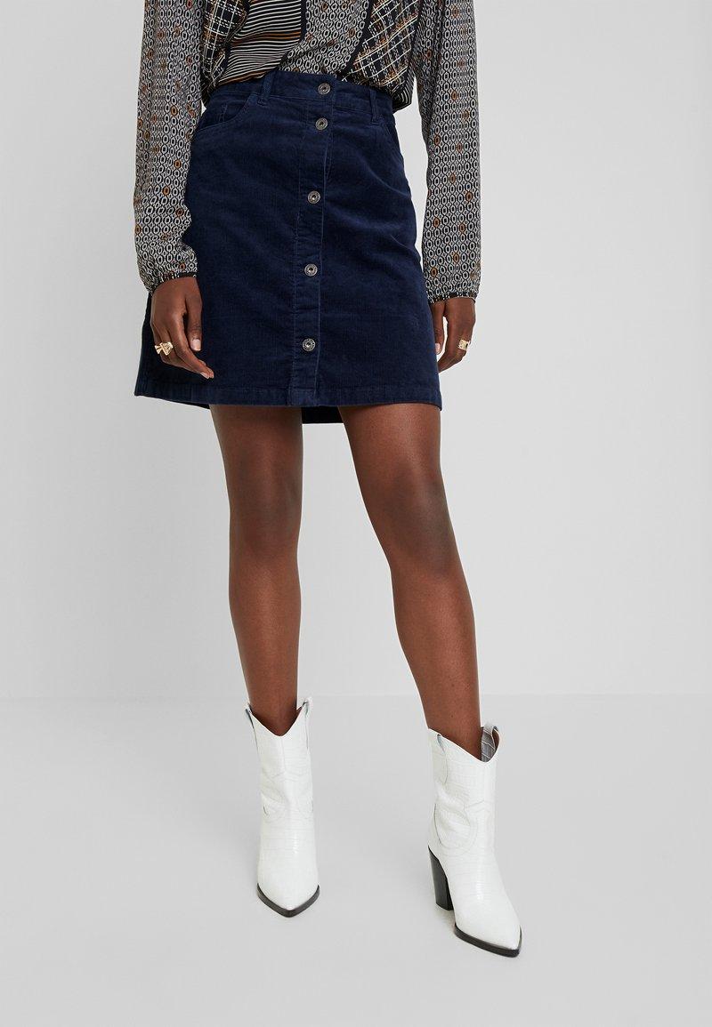 TOM TAILOR DENIM - A-line skirt - real navy blue