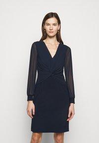 Lauren Ralph Lauren - BONDED DRESS COMBO - Cocktail dress / Party dress - lighthouse navy - 0