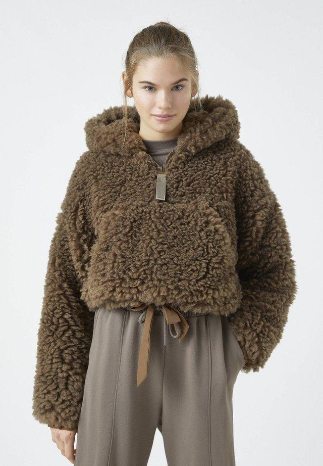 Kurtka zimowa - mottled brown