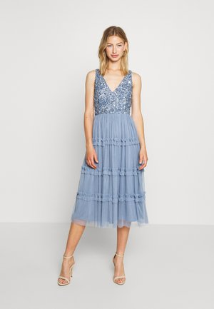 MARYAM MIDI - Cocktail dress / Party dress - dusty blue