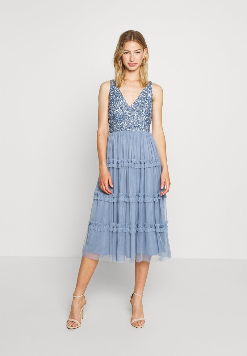 Lace & Beads - MARYAM MIDI - Cocktail dress / Party dress - dusty blue