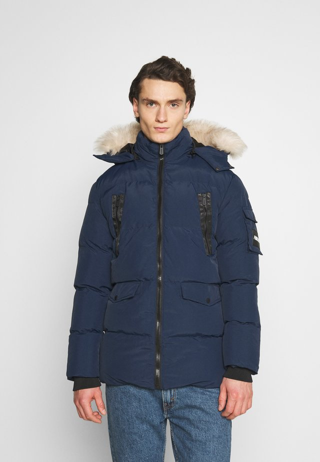 REVOLT LONG BUBBLE JACKET - Vinterkappa /-rock - navy