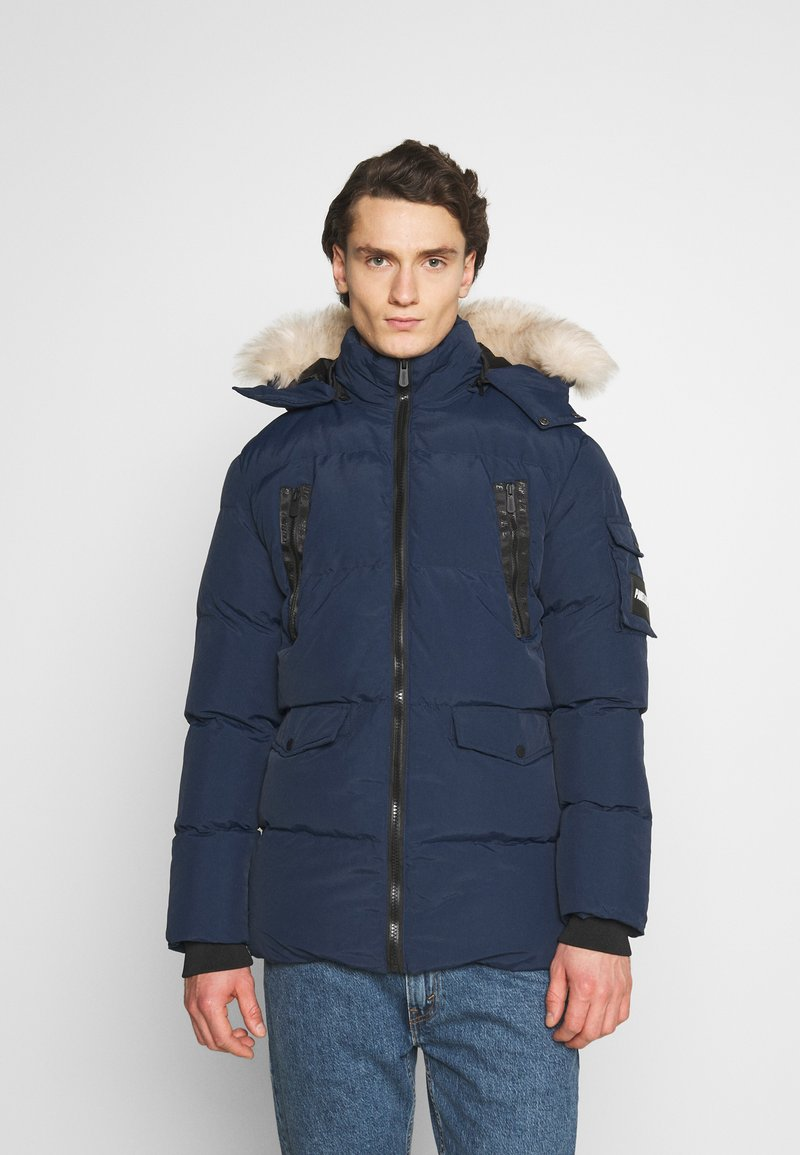 PARELLEX - REVOLT LONG BUBBLE JACKET - Winter coat - navy