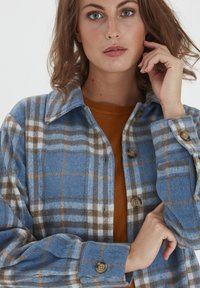 Fransa - Button-down blouse - dusty blue mix - 3