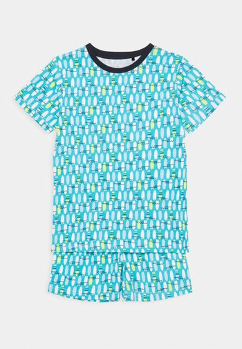 KIDS NIGHTWEAR SURFBOARD - Pyjama set - türkis