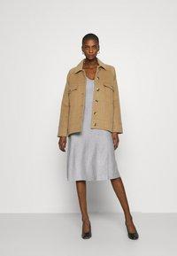 Anna Field - Strikket kjole - light grey melange - 1