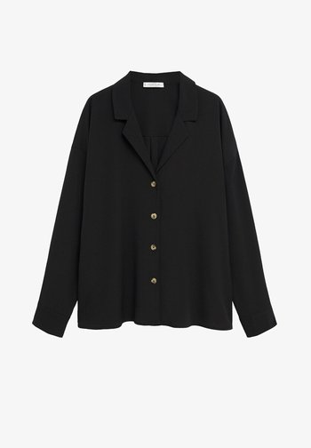 EVERY - Button-down blouse - schwarz