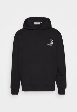 HOODED REFLECTIVE HEADLIGHT - Sweat à capuche - black /reflective grey
