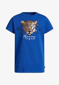WE Fashion - MET GLITTEROPDRUK - T-shirt print - cobalt blue - 3