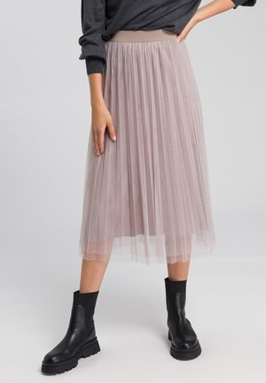 A-line skirt - taupe varied
