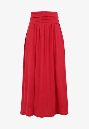 ROLL TOP - Długa spódnica - red
