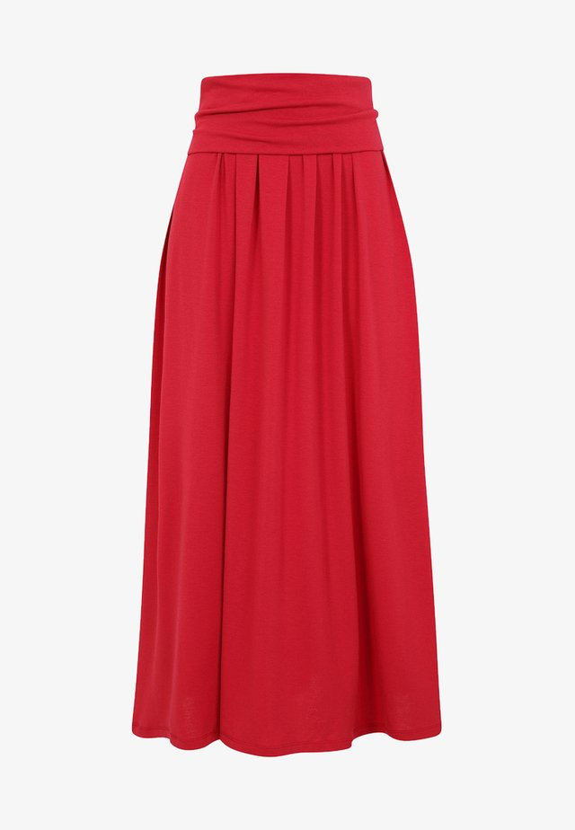 ROLL TOP - Maxi skirt - red