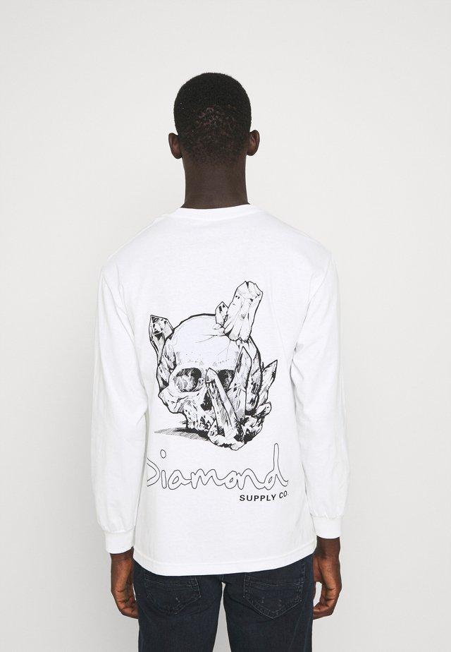 CRYSTAL SKULL TEE - Long sleeved top - white