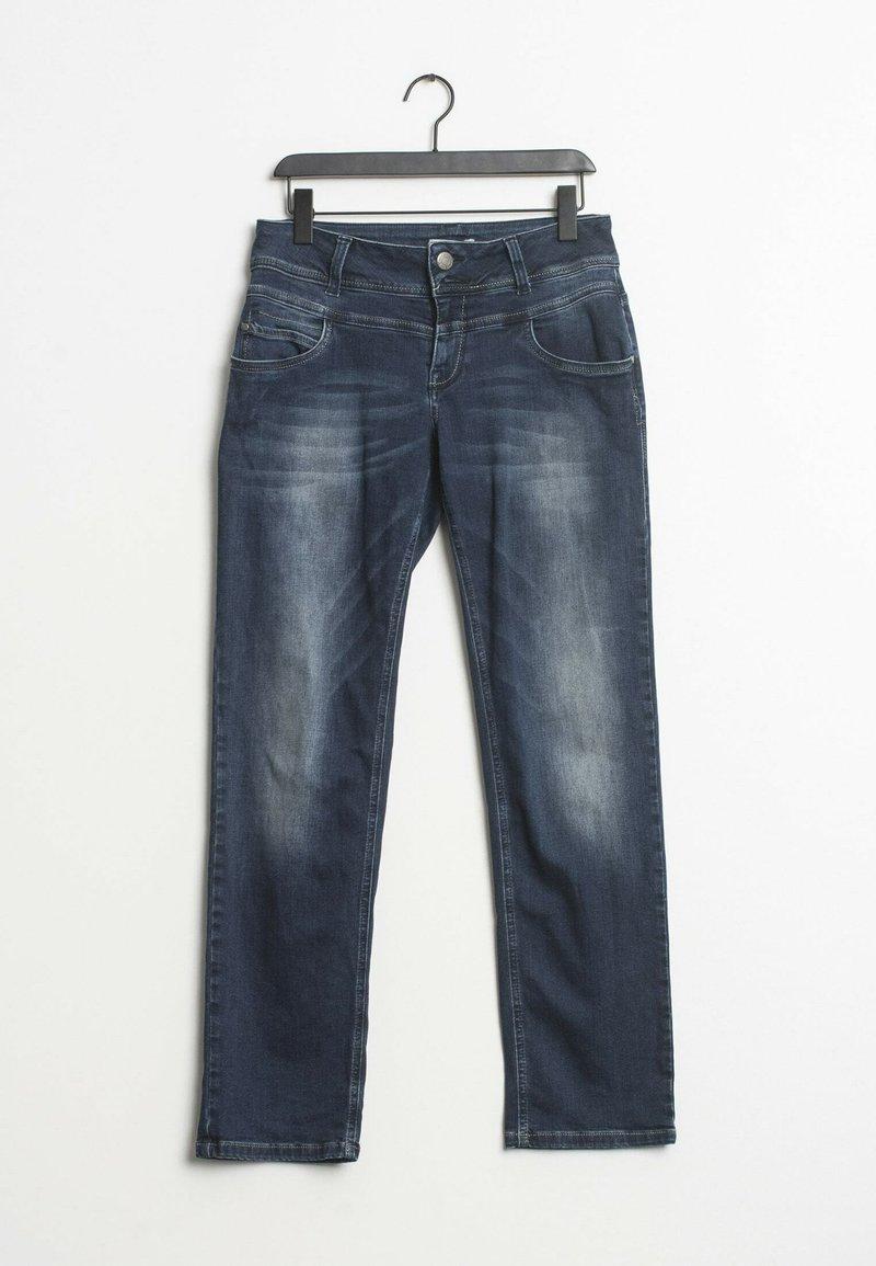 PULZ - Straight leg jeans - blue