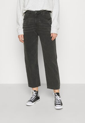 NMBROOKE SLIM DAD - Straight leg jeans - black denim