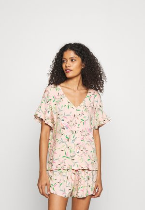 FLORAL SHORTIE  - Pyjamas - peach mix