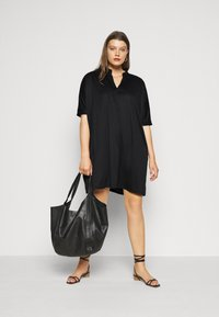 Zign Curvy - Jersey dress - black - 1