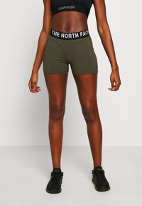 The North Face - WOMENS ESSENTIAL SHORTY - Leggings - new taupe green - 0