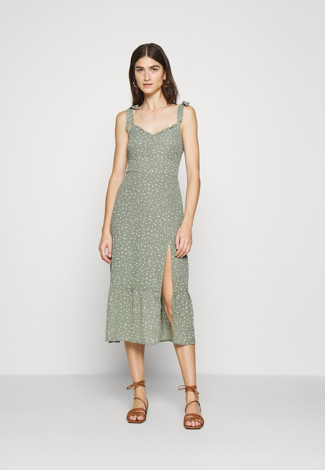 TIE SHOULDER DRESS  - Korte jurk - green