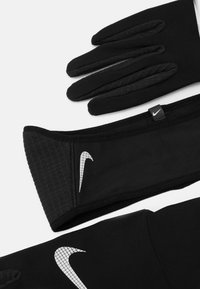 Nike Performance - WOMENS ESSENTIAL RUNNING HEADBAND AND GLOVE SET - Guantes - black/silver - 3