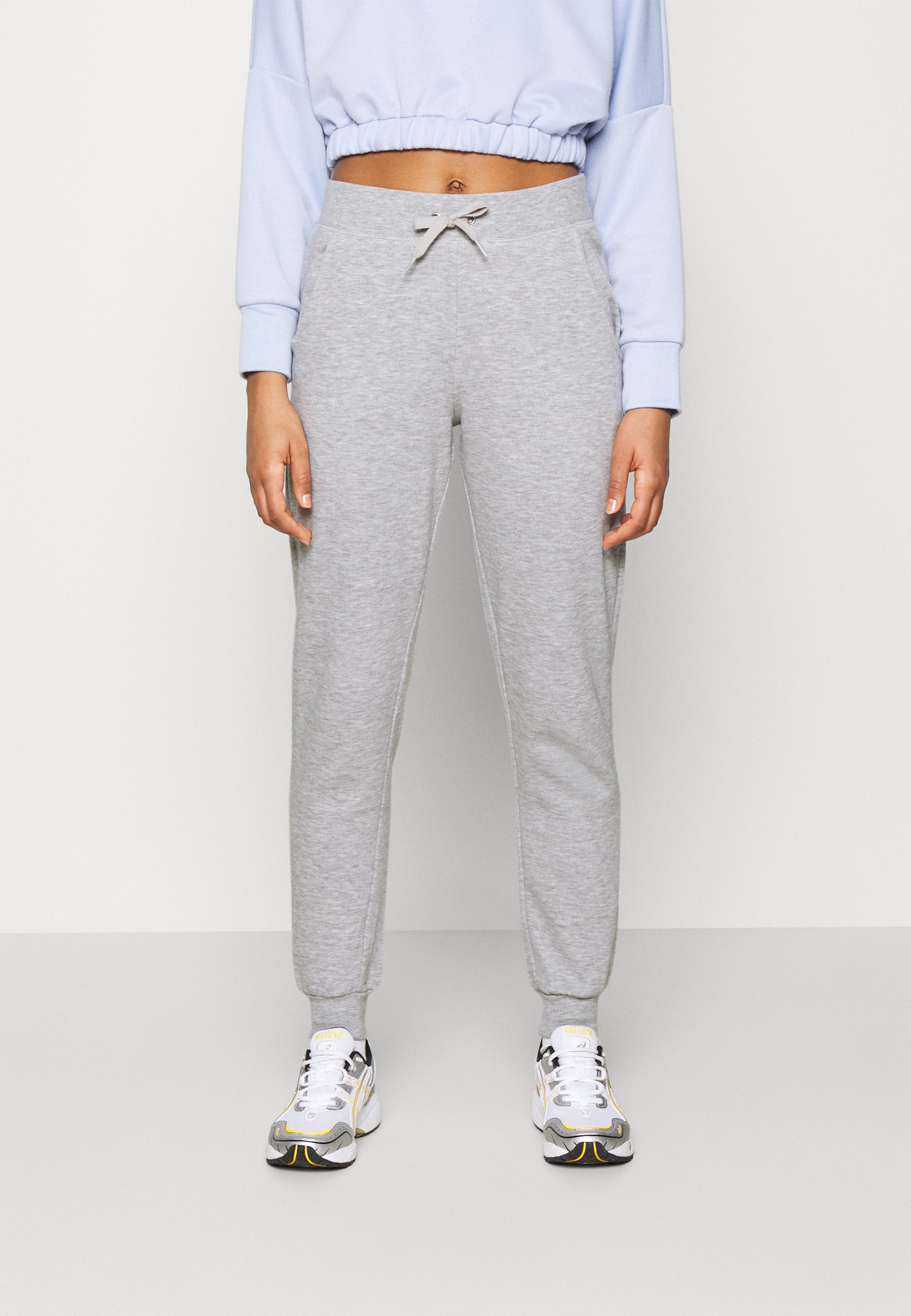 Women SLIM LEG JOGGER - Tracksuit bottoms - mid grey