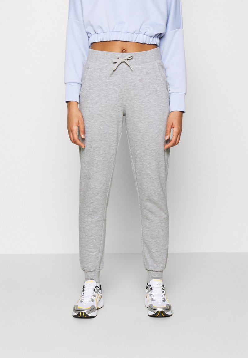 New Look - SLIM LEG JOGGER - Tracksuit bottoms - mid grey