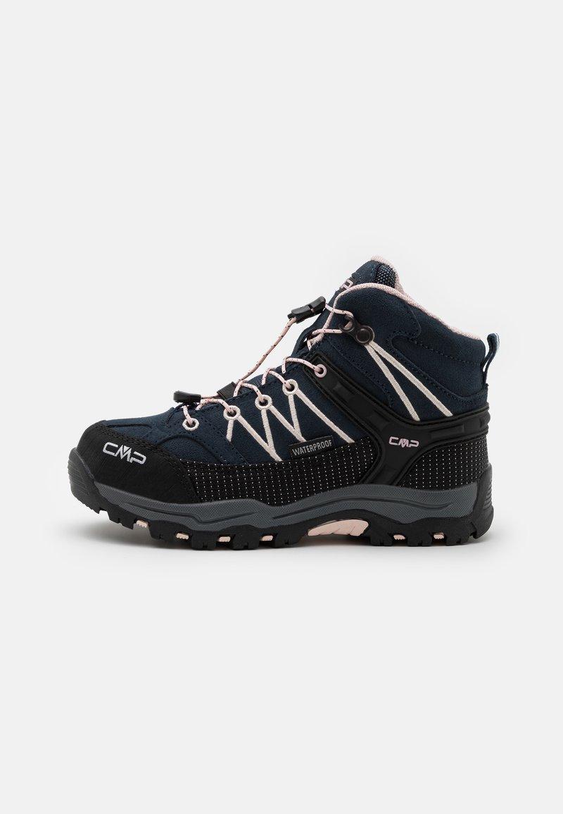 CMP - KIDS RIGEL MID SHOE WP UNISEX - Hiking shoes - asphalt/rose
