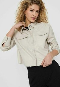 ONLY - Faux leather jacket - pumice stone - 3