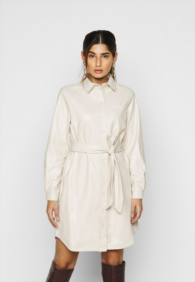 PCRENA DRESS - Shirt dress - whitecap gray