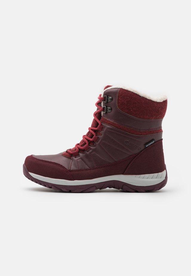RIVA MID WP - Zimní obuv - burgundy/light burgundy