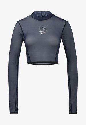 LES MILLS® MESH LONG SLEEVE - Maglietta a manica lunga - blue