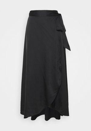 ANNA SKIRT - Maxi skirt - black dark