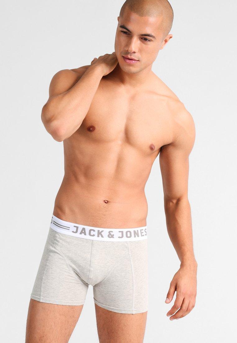Jack & Jones - TRUNKS 3 PACK - Pants - white/light grey melange