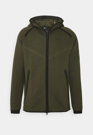HOODIE  - Zip-up hoodie - sequoia/cargo khaki/black