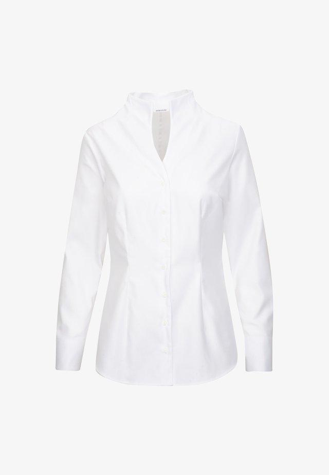 Button-down blouse - weiss