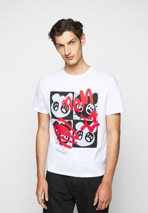 BEAR ANIMATION  - T-shirt imprimé - white