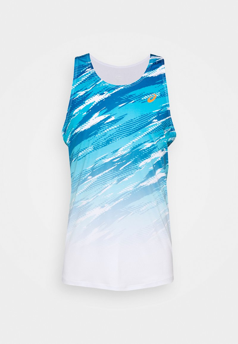 ASICS - COLOR INJECTON SINGLET - Top - brilliant white/rebron blue