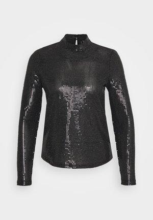 VMKYLIE HIGHNECK - Langærmede T-shirts - black/black