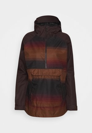 MIRROR PULLOVER - Snowboard jacket - dark red