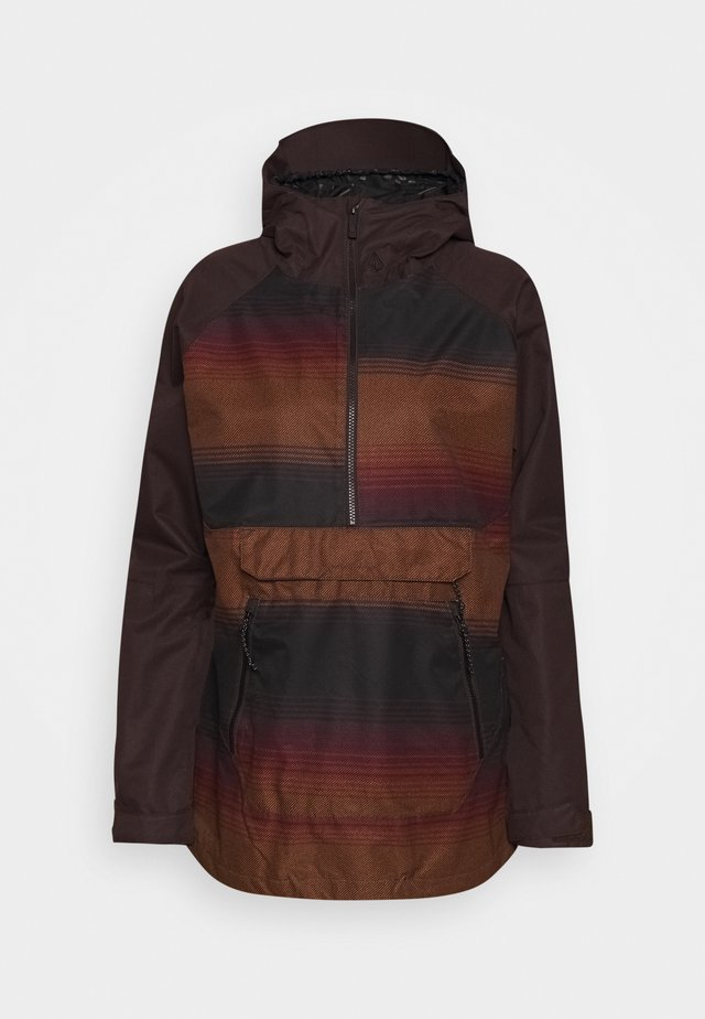 MIRROR PULLOVER - Snowboardjas - dark red