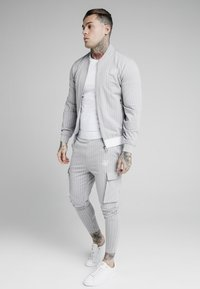 SIKSILK - DUAL STRIPE PANT - Teplákové kalhoty - grey/white - 1